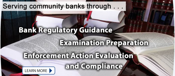 Bank Regulatory Guidance, Examination Preparation, Enforcement Action Evaluation and Compliance